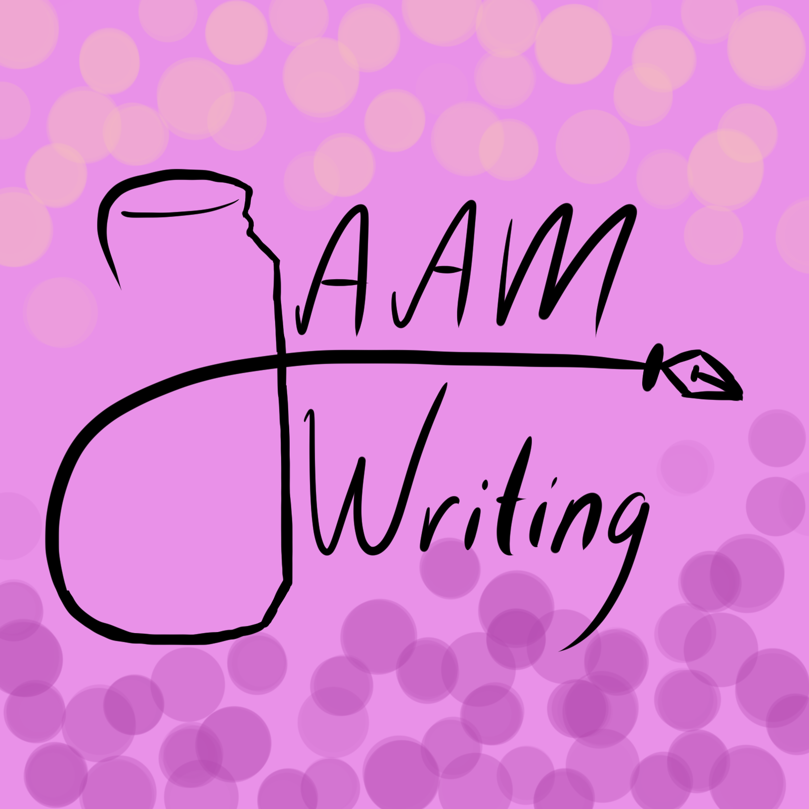 JAAM Writing logo with mason jar and pen tip